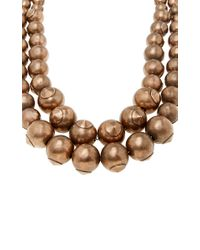 Tomas Maier - Brown Dark Rose Layered Beaded Necklace - Lyst