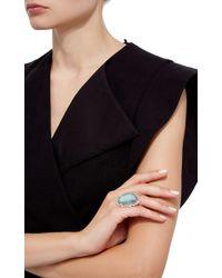Pamela Huizenga   Blue Australian Black Opal, Alexandrite And Diamond Ring   Lyst