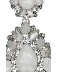 Marchesa | Metallic Casa Blanca Drop Earrings | Lyst