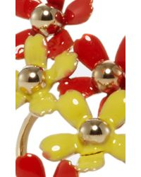 Elie Saab - Metallic Blossom Flower Ring - Lyst