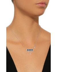Meira T - 14k White Gold, Blue Sapphire And Diamond Necklace - Lyst