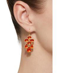 Mallary Marks - Orange Trapeze 18k Gold Cabochon Fire Opal Earrings - Lyst