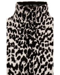 Print Wool Leopard Turtleneck In Givenchy Lyst Sweater Black Blend aTHwSCq