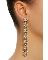 Erickson Beamon - Metallic Dancing Queen 24k Gold-plated Crystal And Pearl Earrings - Lyst