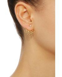 Yvonne Léon - Metallic Creole 18k Gold Diamond Earring - Lyst