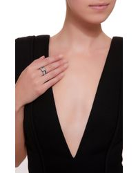 AS29 - Illusion Diamond & 18k Black Gold Ring - Lyst