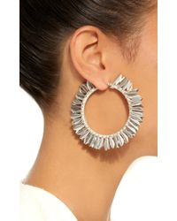 Rebecca de Ravenel - Metallic Metal Petal Hoop Earrings - Lyst