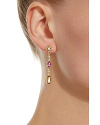 Jordan Alexander - Metallic 18k Gold, Diamond, And Tourmaline Earrings - Lyst