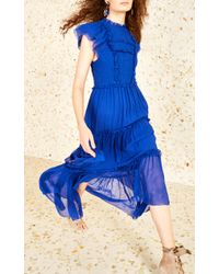 Ulla Johnson Blue Lenore Ruffle Dress