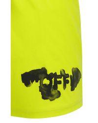 Off-White c/o Virgil Abloh Neon Yellow Logo Swimshorts for men