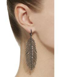 Sidney Garber - 18k Feathers That Move Black Diamond Earrings - Lyst