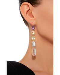 Renee Lewis - Pink 18k Gold Multi-stone Earrings - Lyst
