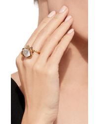Sylvie Corbelin - Metallic One-of-a-kind Mobile Moonstone Flower Ring - Lyst