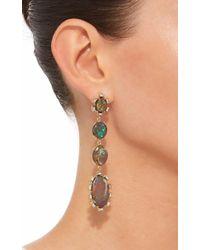 Sylva & Cie - Purple One-of-a-kind Opal Drop Earrings - Lyst