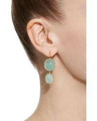 Renee Lewis - Green 18k Gold Emerald Earrings - Lyst