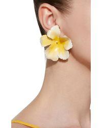 Jennifer Behr - Yellow Buttercup Brass Earrings - Lyst