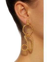 Paula Mendoza   Metallic Stbc Bubble 24k Gold-plated Earrings   Lyst