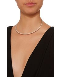 Isabel Lennse - Metallic Sterling Silver Twisted Choker Necklace - Lyst