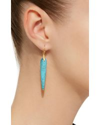 Annette Ferdinandsen - Blue Large Simple Bird 18k Gold Turquoise Earrings - Lyst