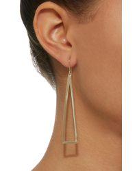 Established - Metallic Triangle Frame 18k Gold Earrings - Lyst