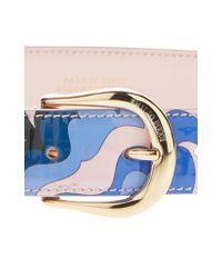 Emilio Pucci - Blue Printed Belt - Lyst