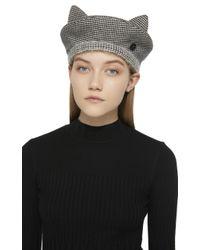 Maison Michel - Black Billy Ears Reversible Wool-blend Hat - Lyst