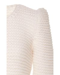 Co. | White Hand Knit Wool Sweater | Lyst
