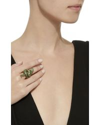 Sidney Garber - Green Eyed Snake Ring - Lyst
