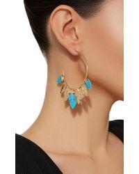 Aurelie Bidermann - Metallic Thalitha Hoop Earrings With Turquoise - Lyst