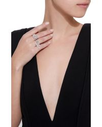 YEPREM - White Wild Flames Double Ring - Lyst