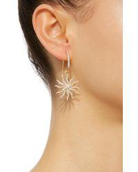 Yvonne Léon - Metallic Maxi Bo Chams 18k Gold, Diamond And Sapphire Earring - Lyst