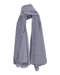 Donni Charm - Blue Donni Diagonal Cotton Scarf - Lyst
