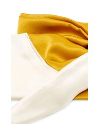 DONNI. - Yellow M'o Exclusive Silk Babette Headscarf - Lyst