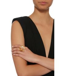 Oscar de la Renta - Metallic Bold Gold-tone Flower Ring - Lyst
