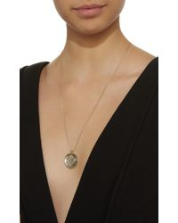 Noor Fares - Metallic Carved Rock Crystal Pendant Necklace - Lyst