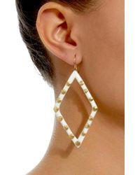 Ashley Pittman - White Light Horn Mila Earring - Lyst