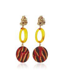 Lulu Frost - Orange M'o Exclusive Vintage Citrine Glass Disc Earrings - Lyst