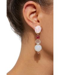Daria de Koning - Pink Rosé All Day 18k Yellow Gold Multi-stone Earrings - Lyst