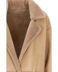 Genny - Natural Fur Lined Coat - Lyst