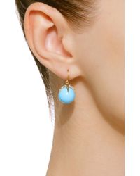 Sylva & Cie - Blue Starlight 18k Gold, Turquoise And Diamond Earrings - Lyst