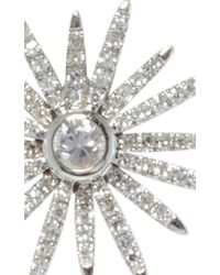 EF Collection - Metallic 14k White Gold Diamond Starburst Stud Earrings - Lyst