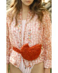 All Things Mochi - Orange Shell Bag - Lyst
