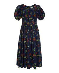 Ulla Johnson Blue Gallia Floral Dress