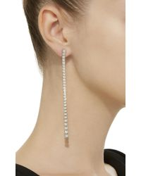 Sara Weinstock - Isadora Cushion White Gold Graduated White Diamond Earrings - Lyst
