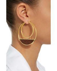 Monica Sordo - Metallic Callao Maxi Loops 21k Gold-plated Earrings - Lyst