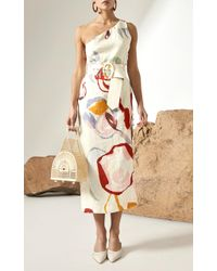 Cult Gaia - Multicolor Louise Print One Shoulder Dress - Lyst