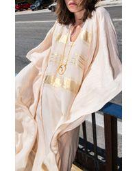 Zeus + Dione - White Symi Embroidered Silk Kaftan - Lyst