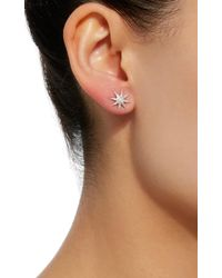 Colette - Metallic Twinkle 18k White Gold Stud Earrings - Lyst