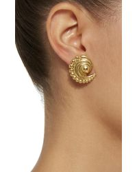 Nicole Romano - Metallic 18k Gold-plated Swirled Crescent Metal Earrings - Lyst