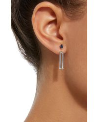 Yi Collection - Blue 18k Gold Sapphire And Aquamarine Earrings - Lyst
